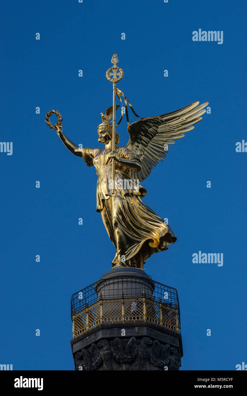 The Siegessäule, Victory Column, Berlin, Germany - Stock Image