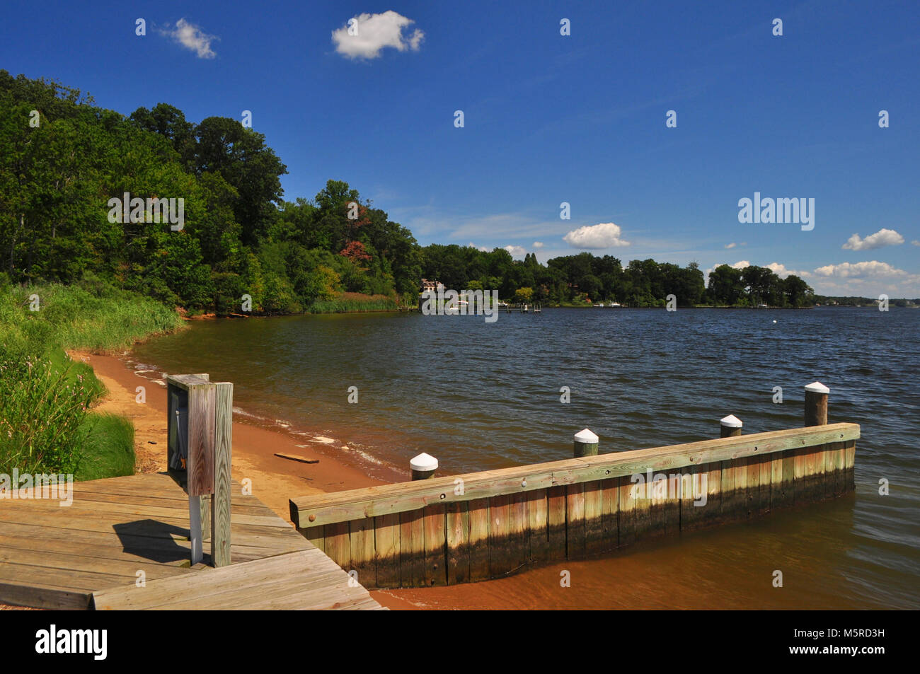 View from Marina in Annapolis - Stock Image