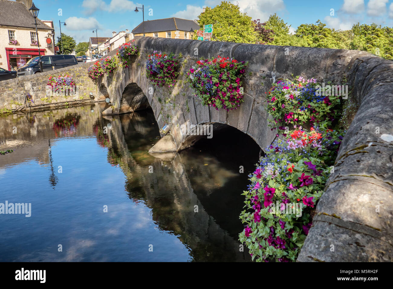 Westport bridge in county Mayo, Ireland - Stock Image