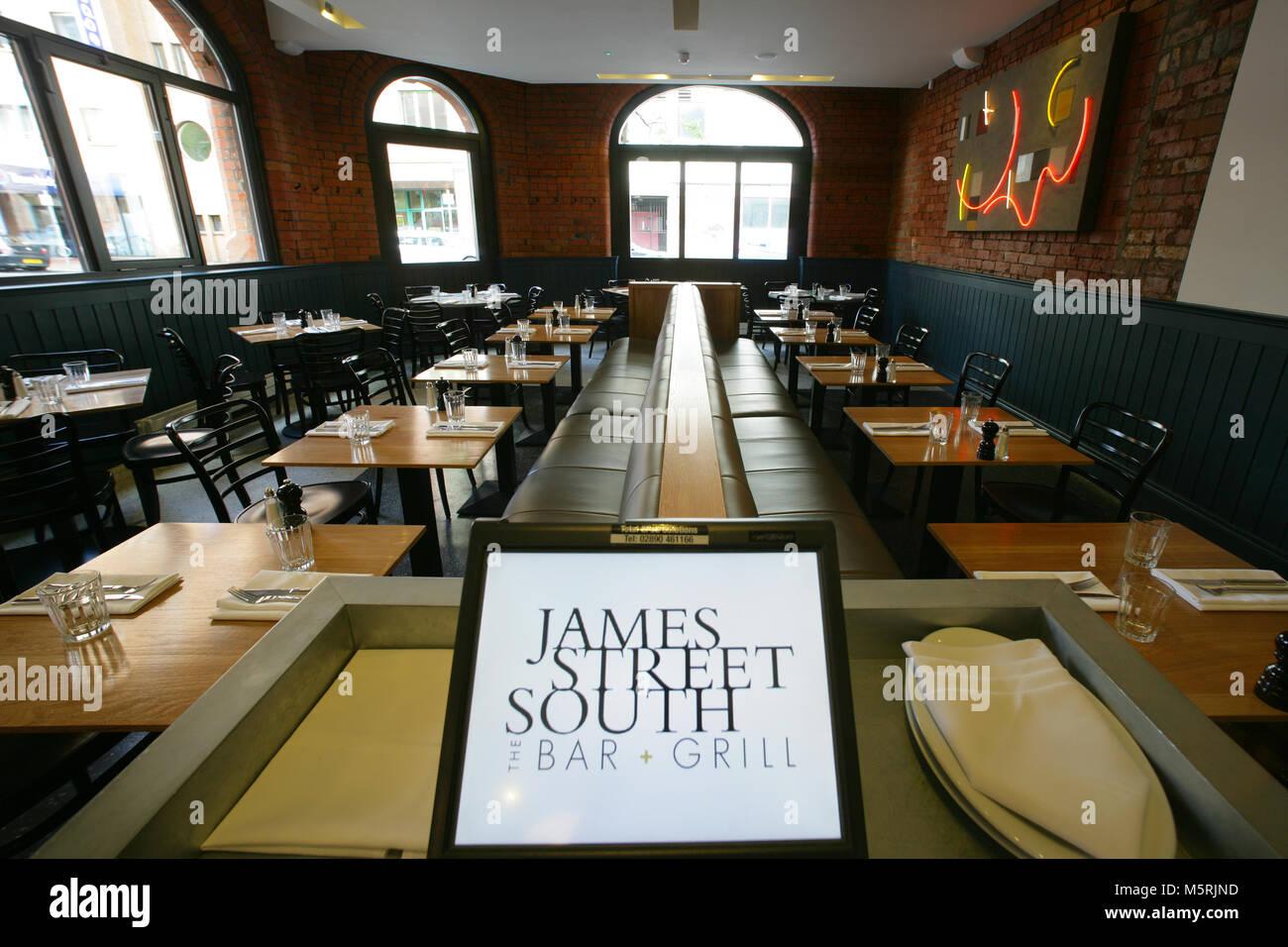 The Bar and Grill, 21 James Street South, Belfast, BT2 7GA. Photograph/Paul McErlane - Stock Image