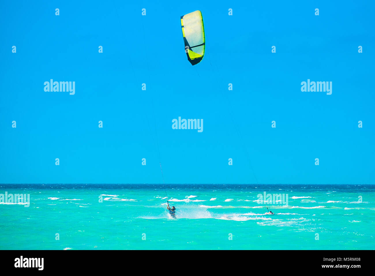 Cayo Guillermo , Cuba - 25 March 2012 : Athletes surfer involved - Stock Image