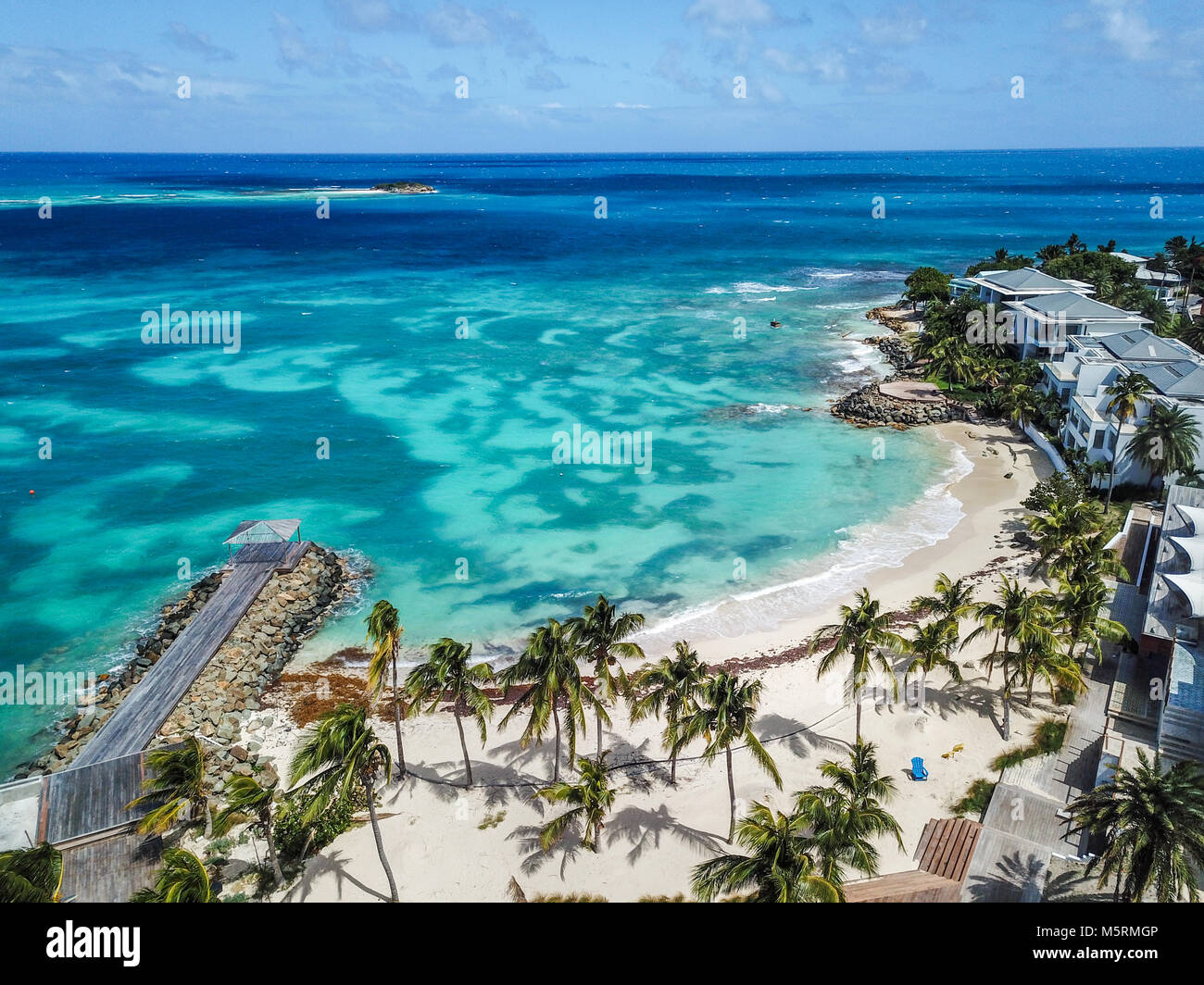Hodges Bay Beach, Antigua - Stock Image