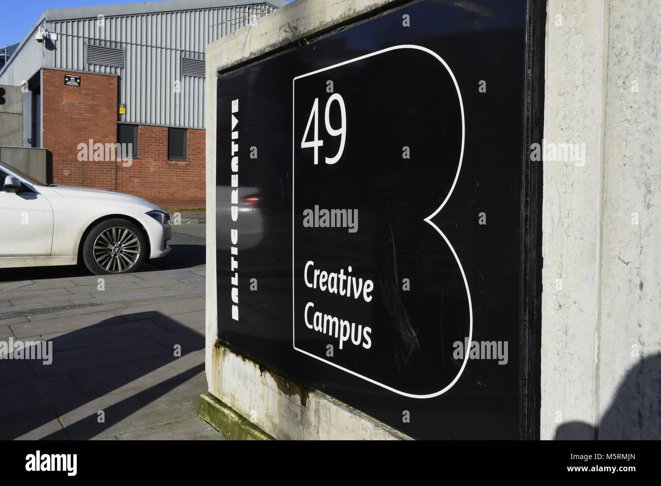 Creative space units on Jamaica Street, in the cutting-edge Baltic Triangle, in Liverpool, on Merseyside, in NW - Stock Image