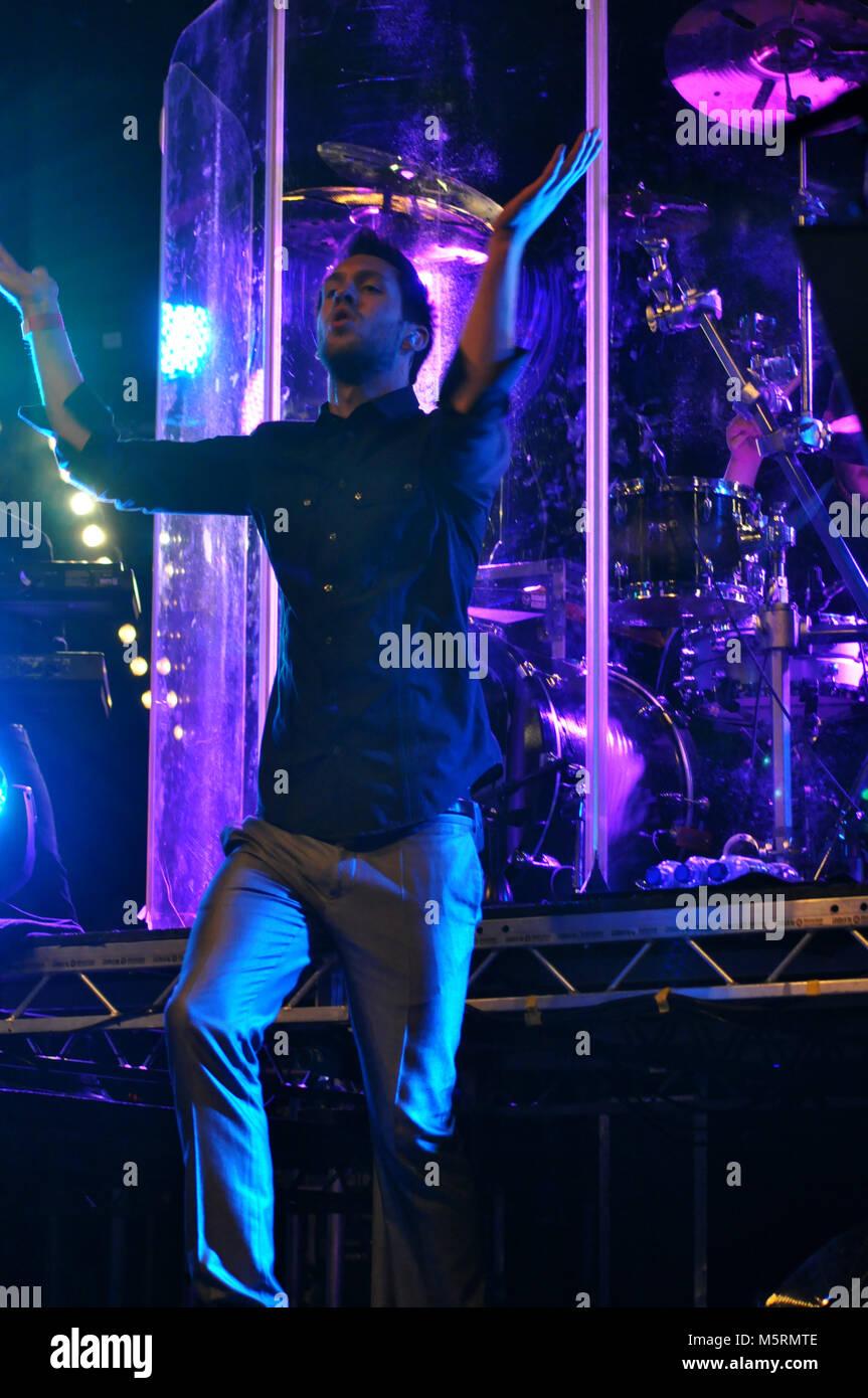 Calvin Harris at Stockton Riverside Festival - Stock Image