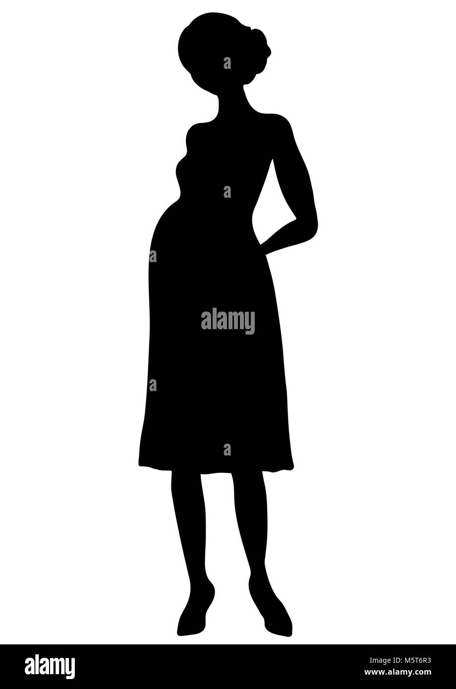 Pregnant Woman Silhouette Outline