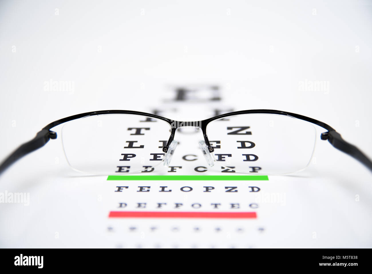 Glasses eye chart check up doctor optometry stock photos glasses eye glasses on eyesight test chart background close up stock image geenschuldenfo Gallery