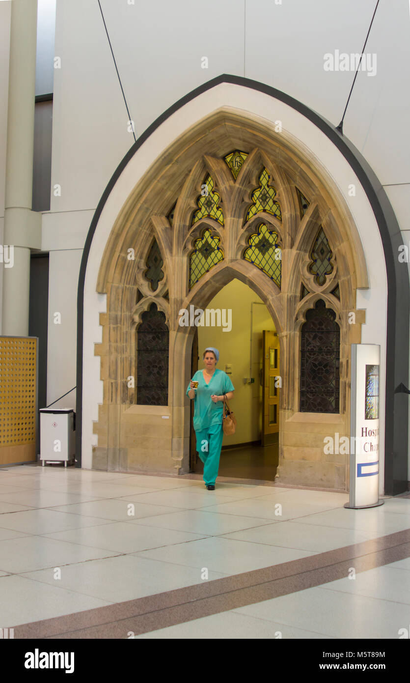 21 February 2018 The beautifully refurbished entrance the Dorian Chapel that is located within the main foyer of - Stock Image