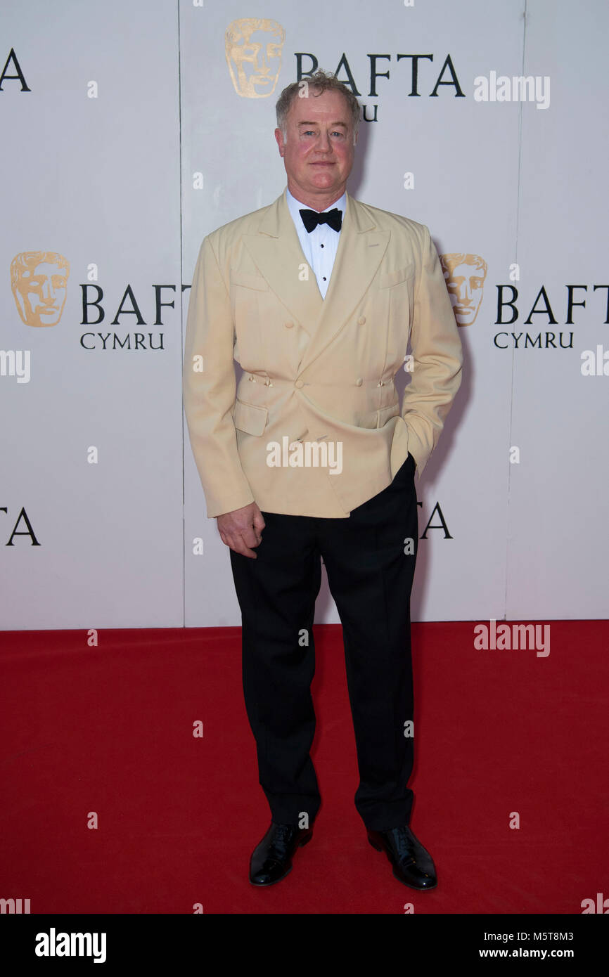 Actor Owen Teale poses for a picture at the 26th British Academy Cymru Awards held at St David's Hall on October Stock Photo