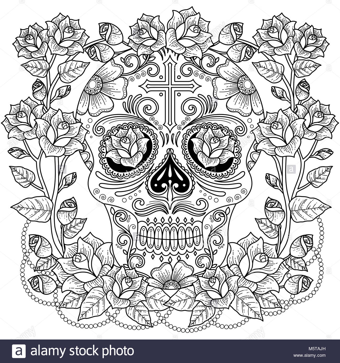 Skull Rose Cut Out Stock Images & Pictures - Alamy