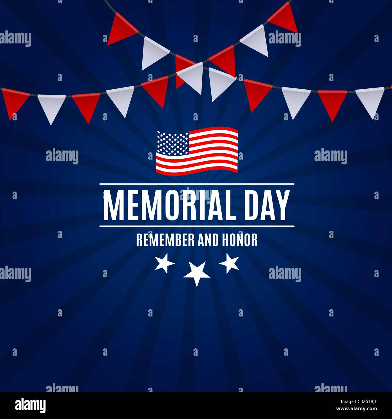 memorial day background template vector illustration stock vector