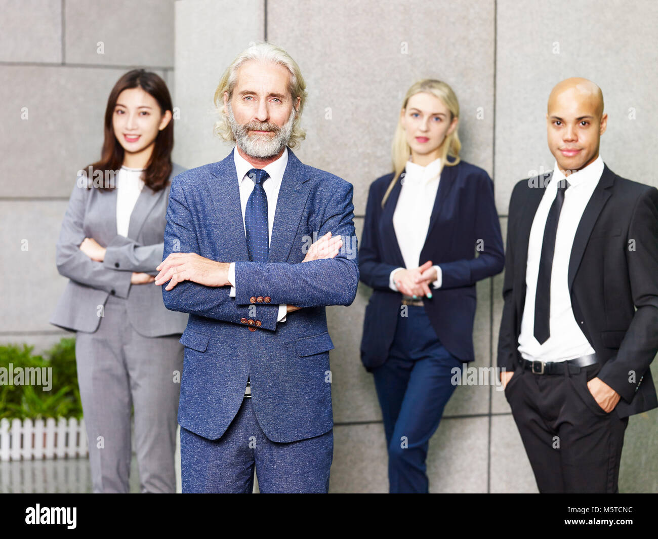 portrait of a team of multinational and multiethnic corporate business people. - Stock Image