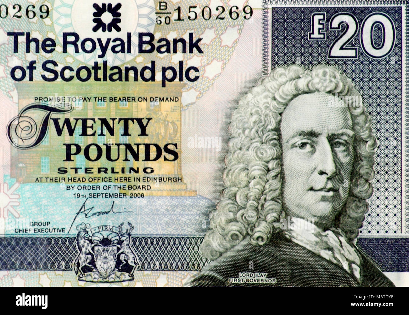 Scotland Twenty 20 Pound Bank Note - Stock Image