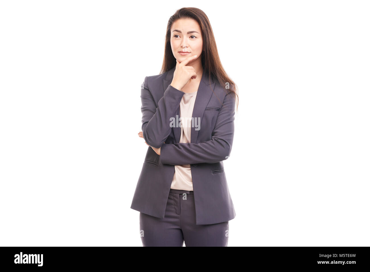 Emotional businesswoman - Stock Image