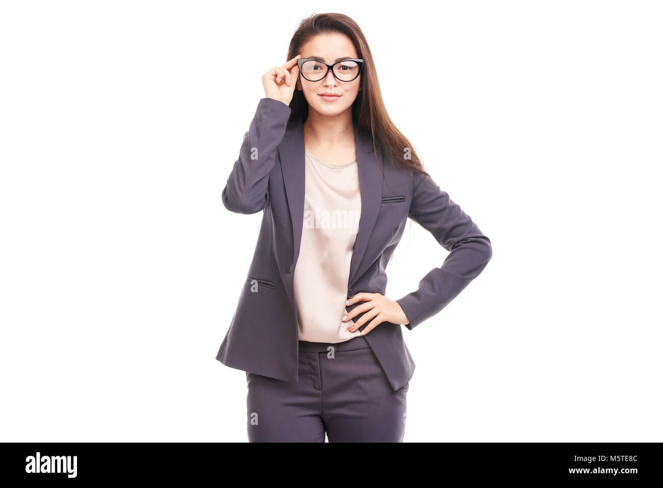 Businesswoman with eyeglasses - Stock Image