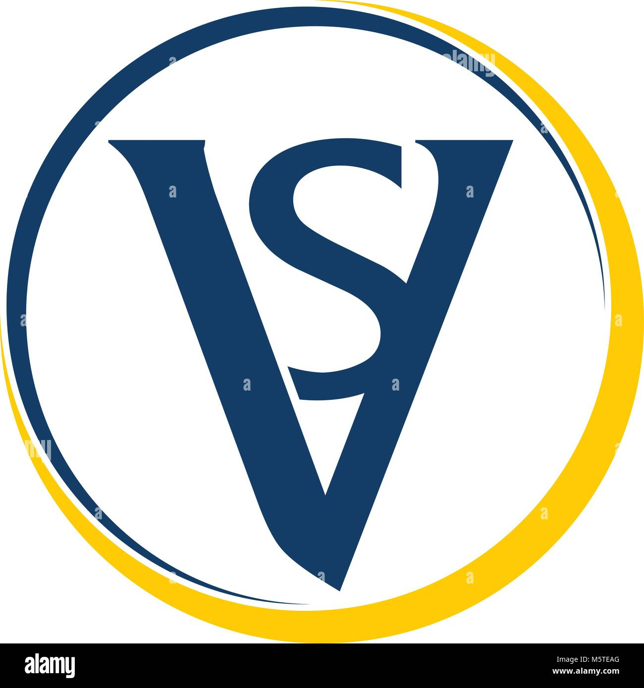 Letter VS Emblem - Stock Vector