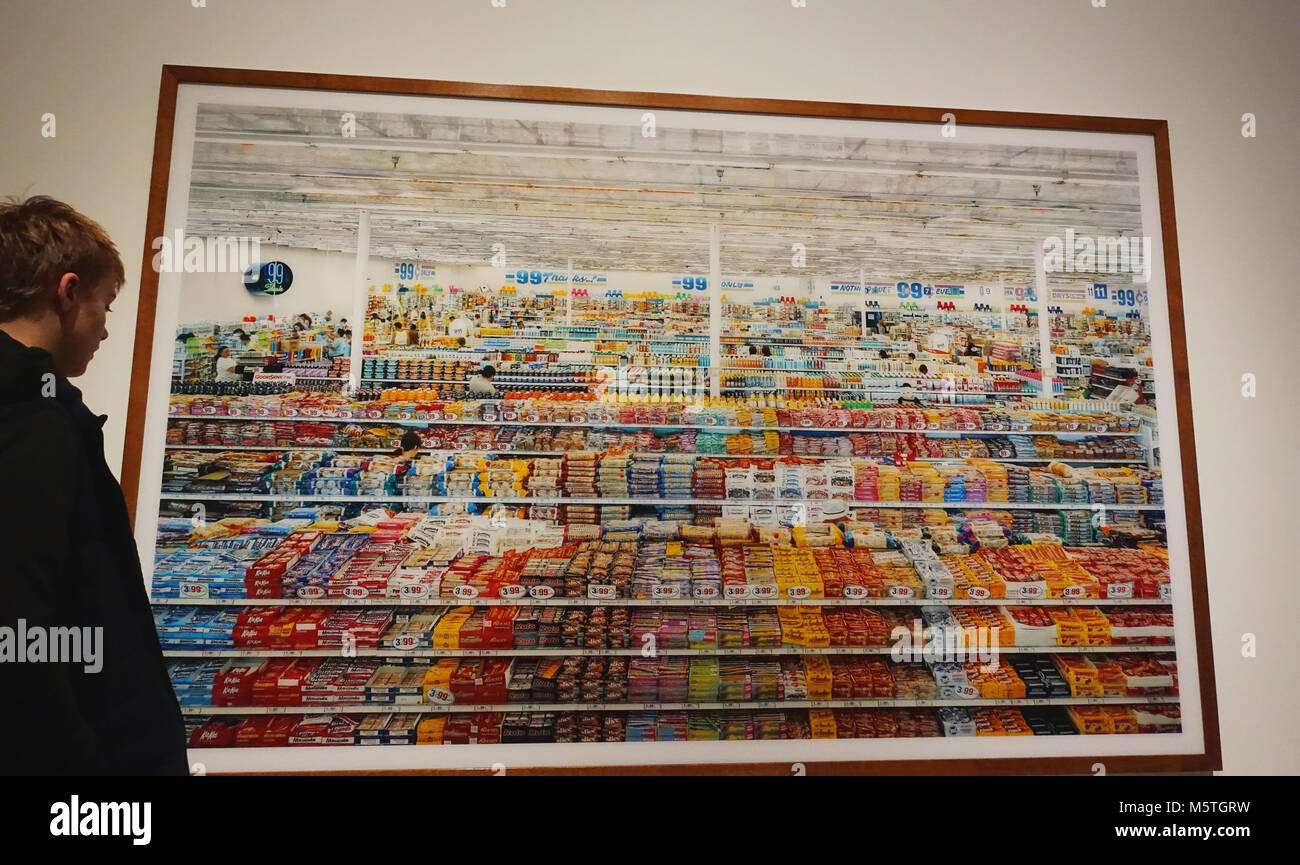 Andreas Gursky Photograph Of A Supermarket