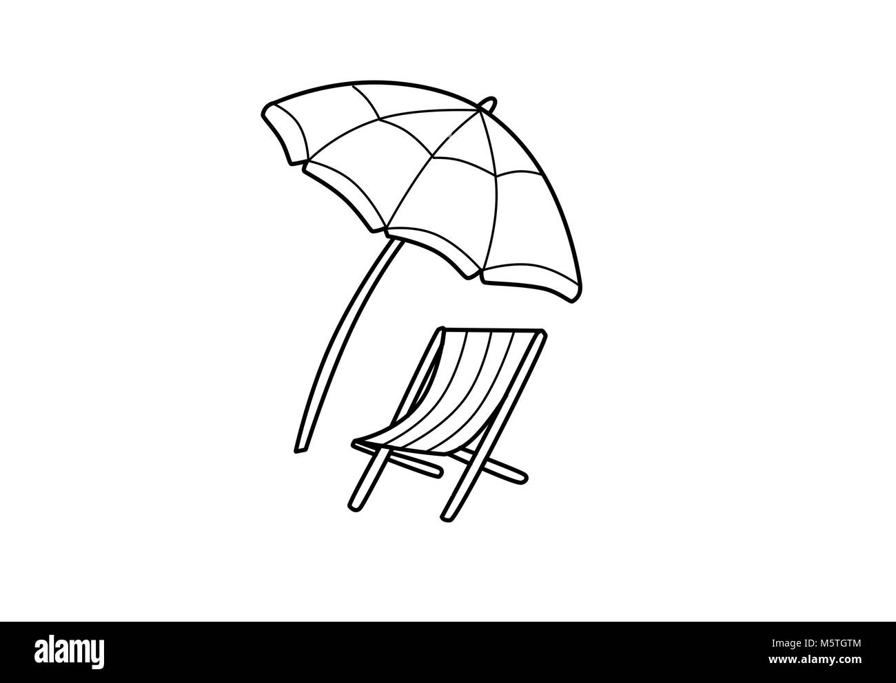 Beach Umbrella Cut Out Stock Images Amp Pictures Alamy