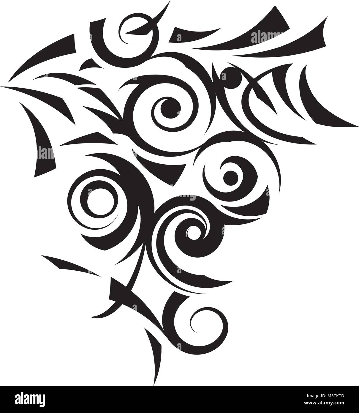 Aztec tattoo style in aggressive nature. - Stock Vector