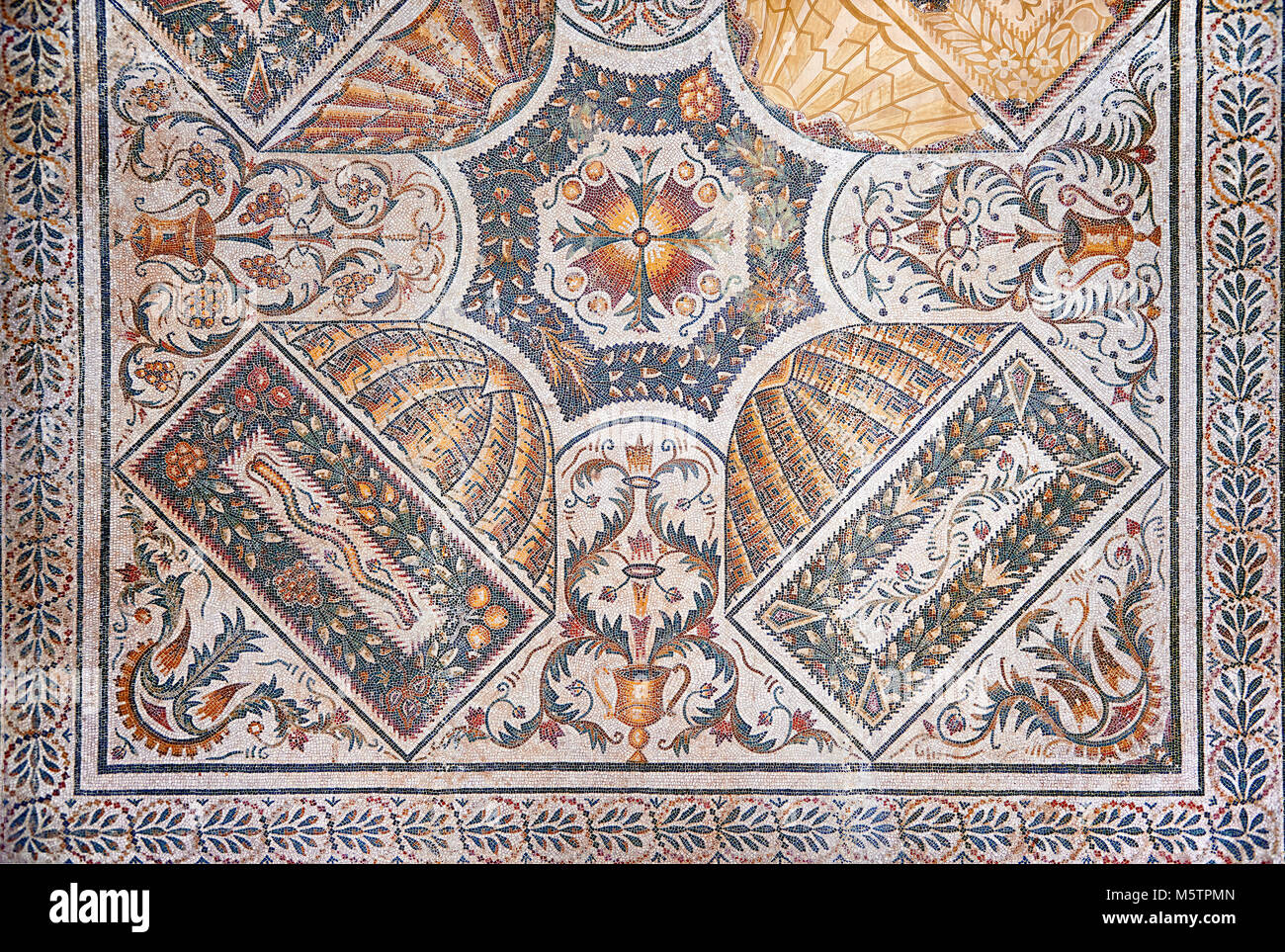 Roman mosaics from the north African Roman province of Africanus . Bardo Museum, Tunis, Tunisia. Stock Photo