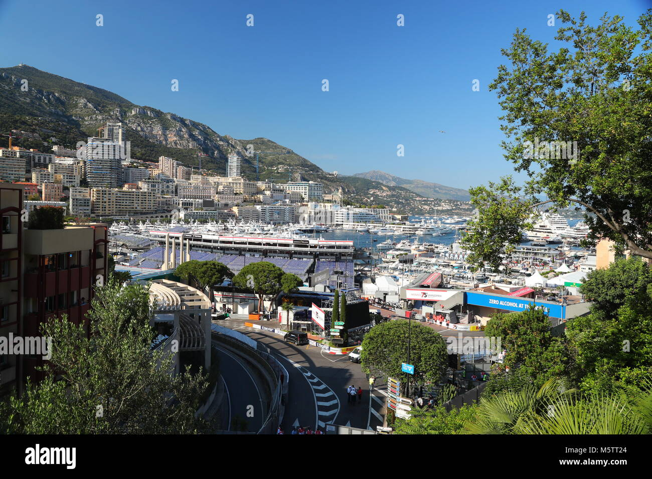 Monaco, Monte-Carlo, 28 May 2017: Port Hercule in time of carrying out race of the Grand Prix Formula 1, a lot of - Stock Image