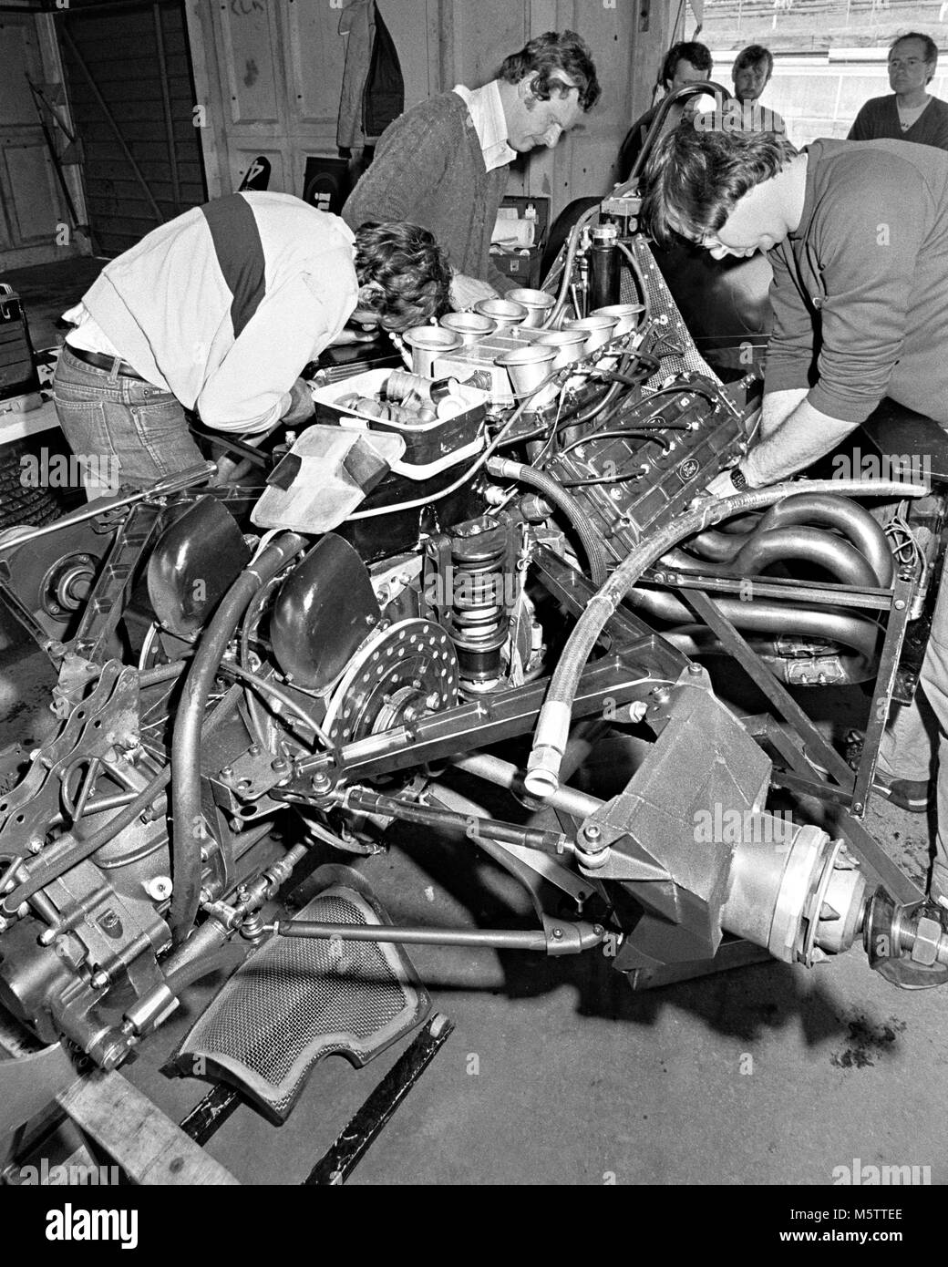 Tyrrell F1 car Brands Hatch 1984 test day - Stock Image