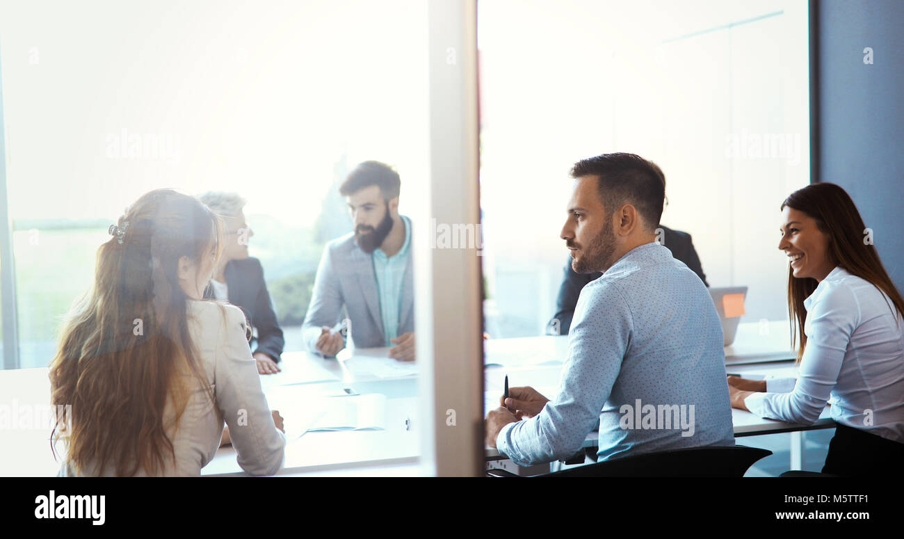 Business people casual day at the business office - Stock Image