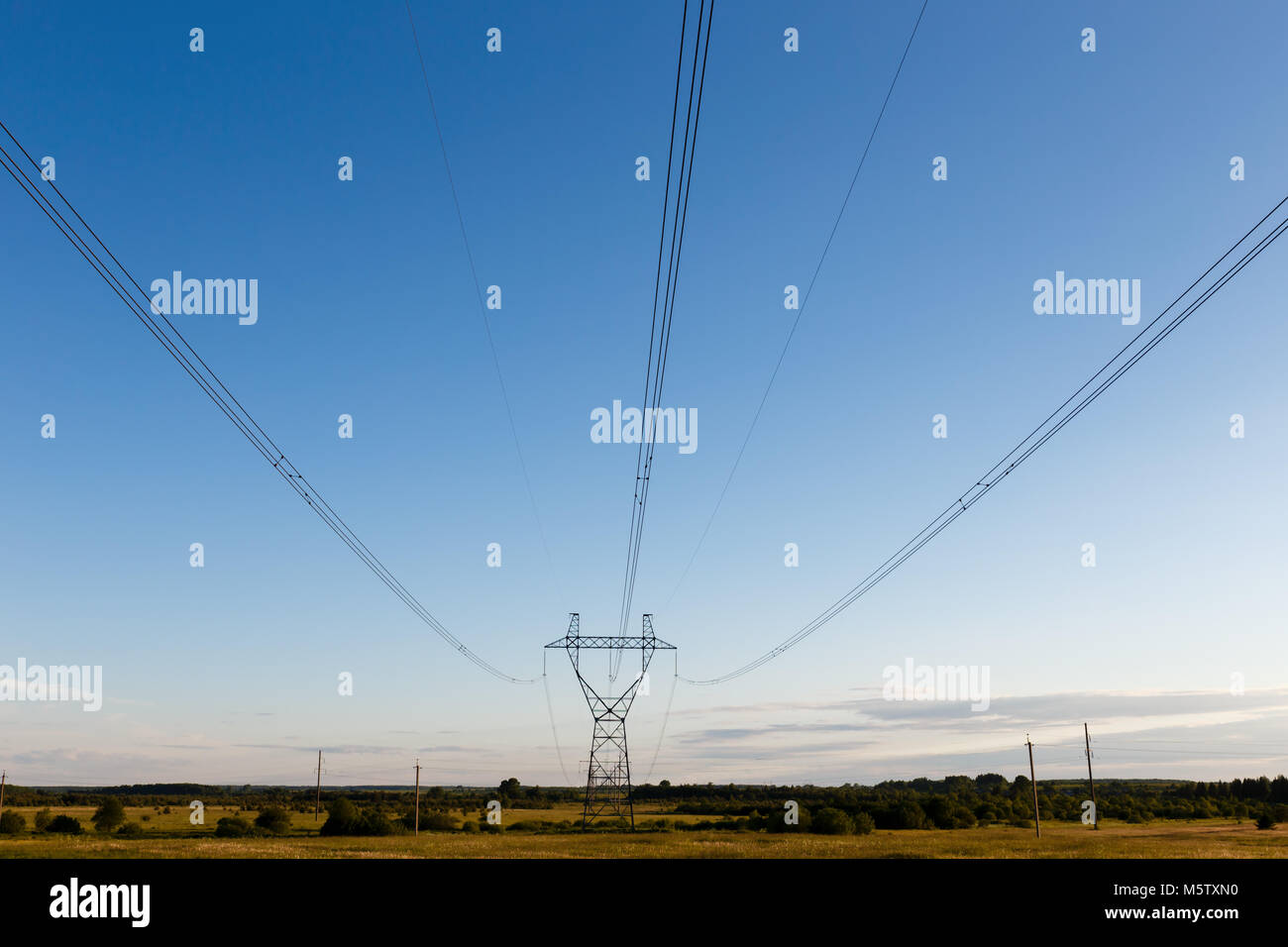 support of high-voltage power line - Stock Image