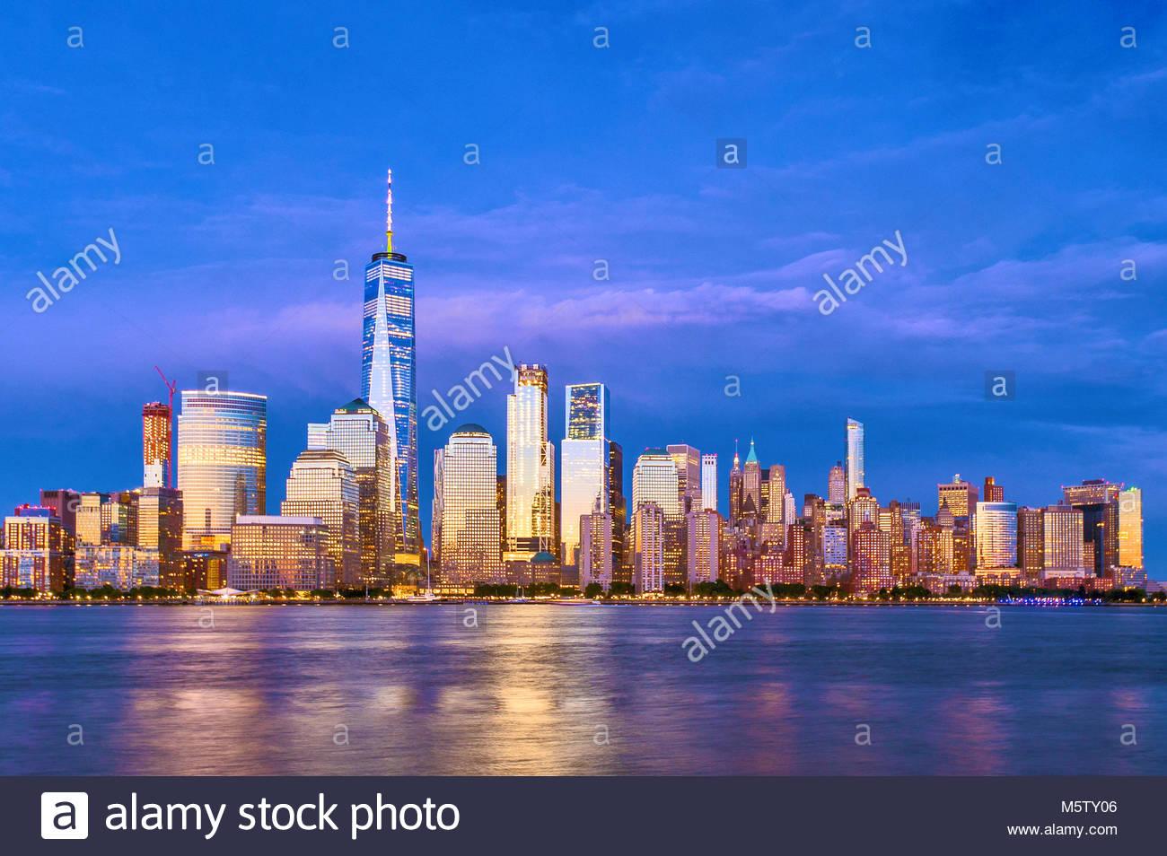 New York Skyline One World Trade Center WTC Freedom Tower - Stock Image