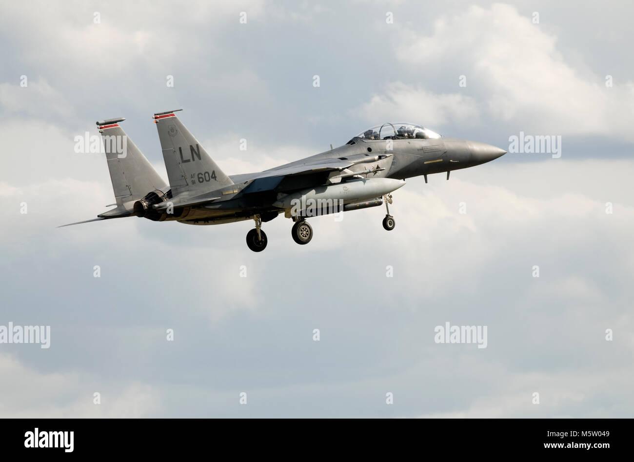 Lakenheath CO 48th OG 48th FW Print F-15E Strike Eagle by G. Marie
