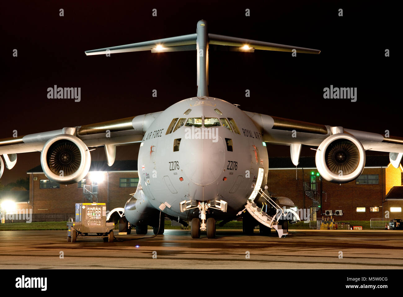 Boeing C-17A Globemaster III, ZZ176, 99 Squadron, wearing special marks celebrating 99 years of 99 Sqd, based and Stock Photo
