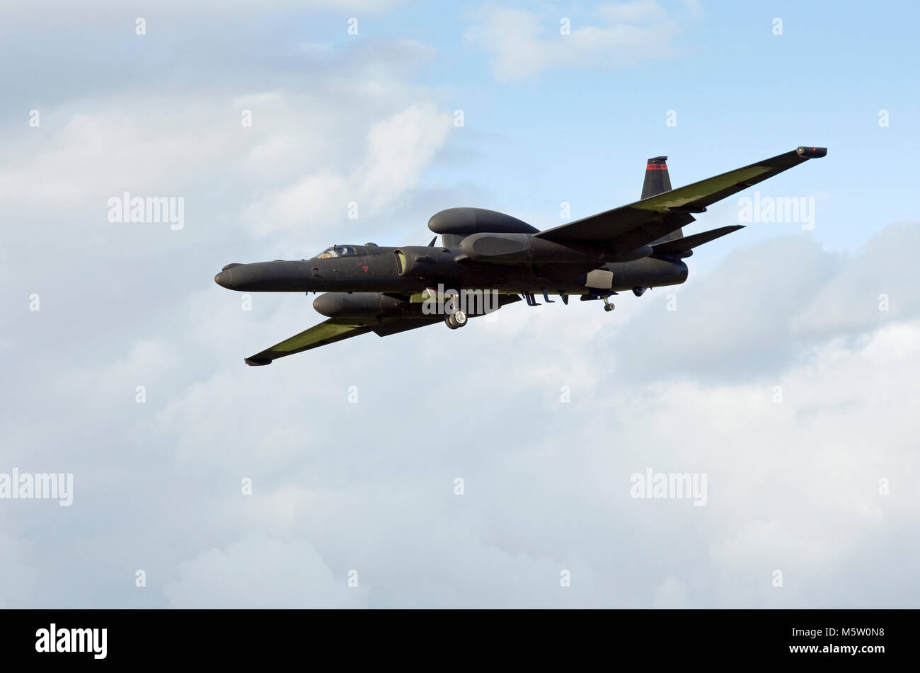 Lockheed U-2S Dragon Lady 80-1083 of the 9th Reconnaissance Wing,  United States Air Force based at Beale AFB, seen - Stock Image