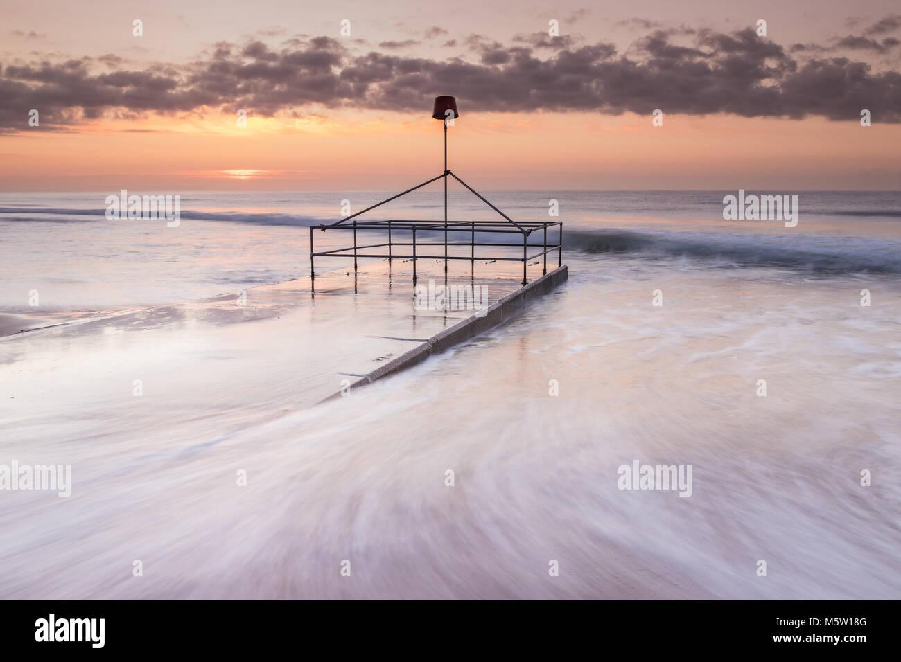 Bournemouth Beach Sunrise - Stock Image