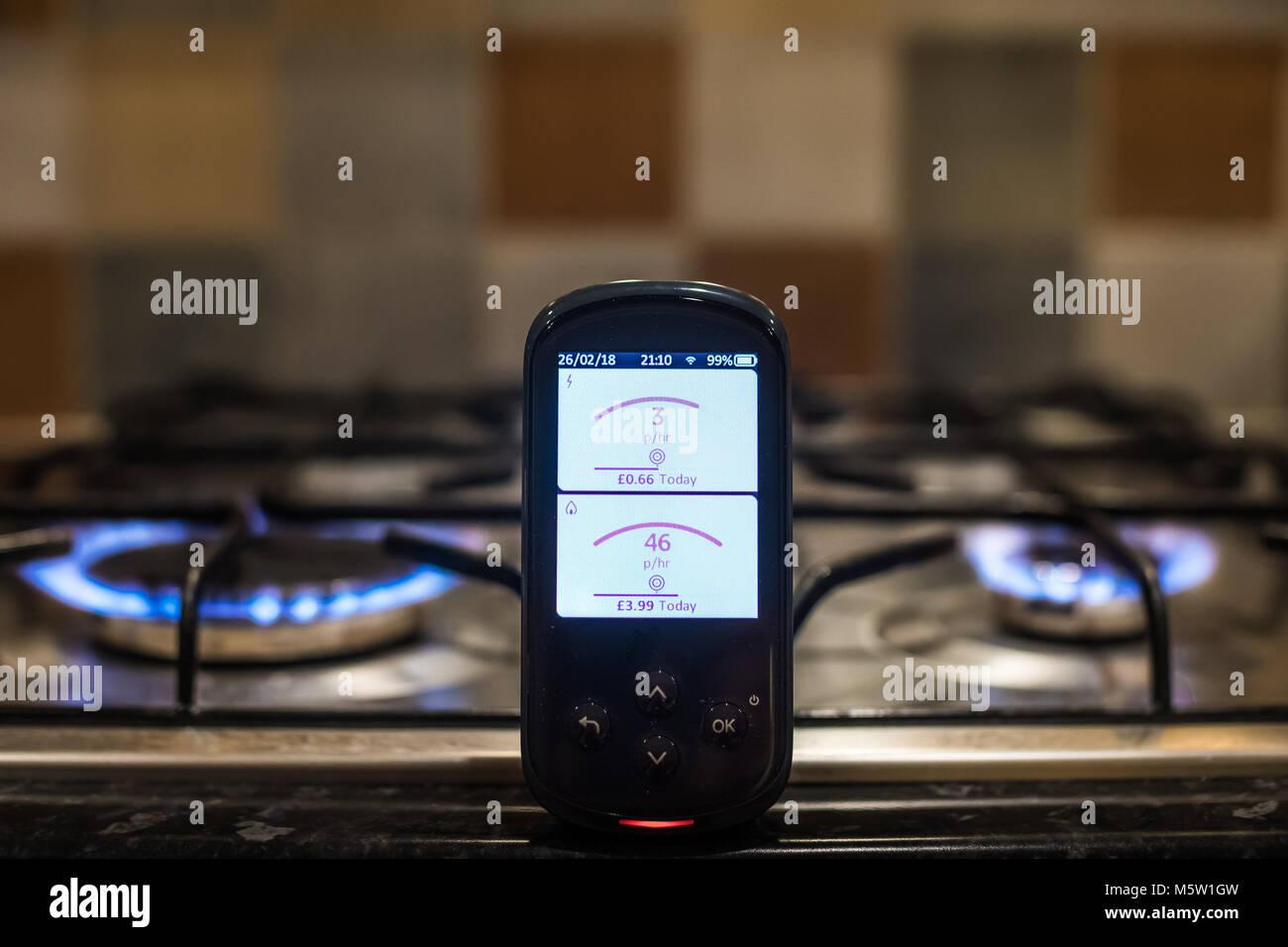 Smart Metering Showing Live Data - Stock Image