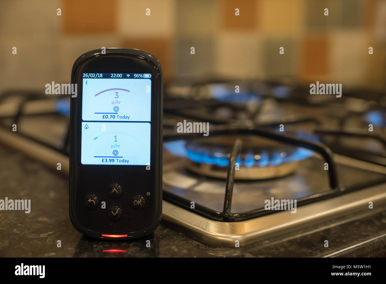 Smart Metering Showing Live Data - Stock Image