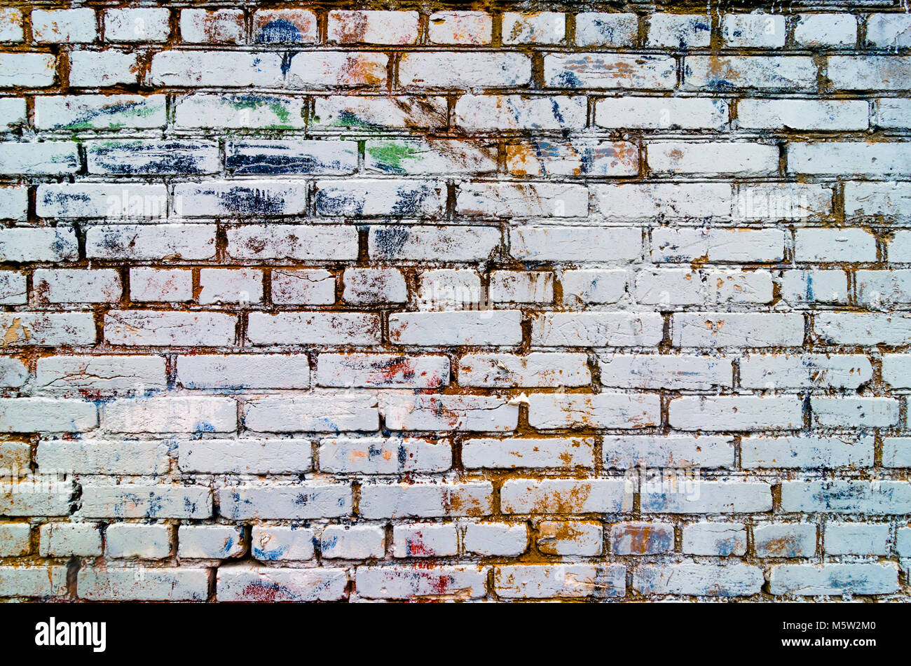 Abstract Colorful Brick Wall Texture And Background