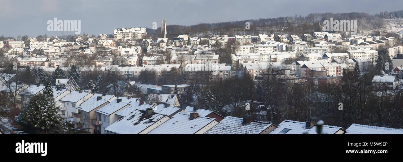 Cityscape of Meinerzhagen, North Rhine-Westphalia, Germany, Europe - Stock Image