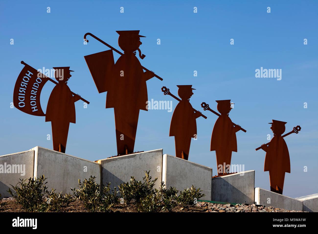 Shooters' monument, Schuetzenplatz square, Meinerzhagen, North Rhine-Westphalia, Germany; - Stock Image