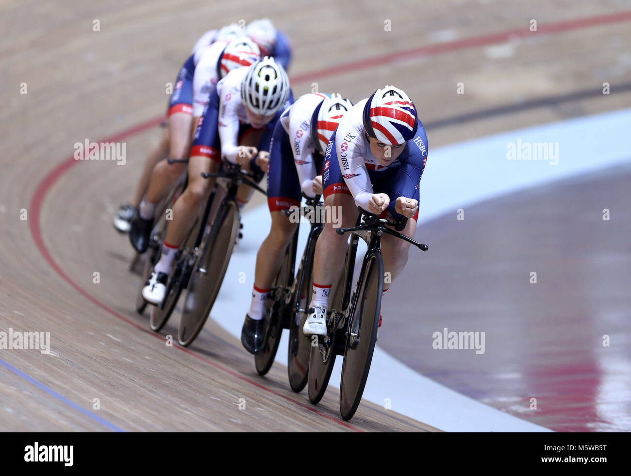 Emily Kay with teammates from the GB Cycling women's