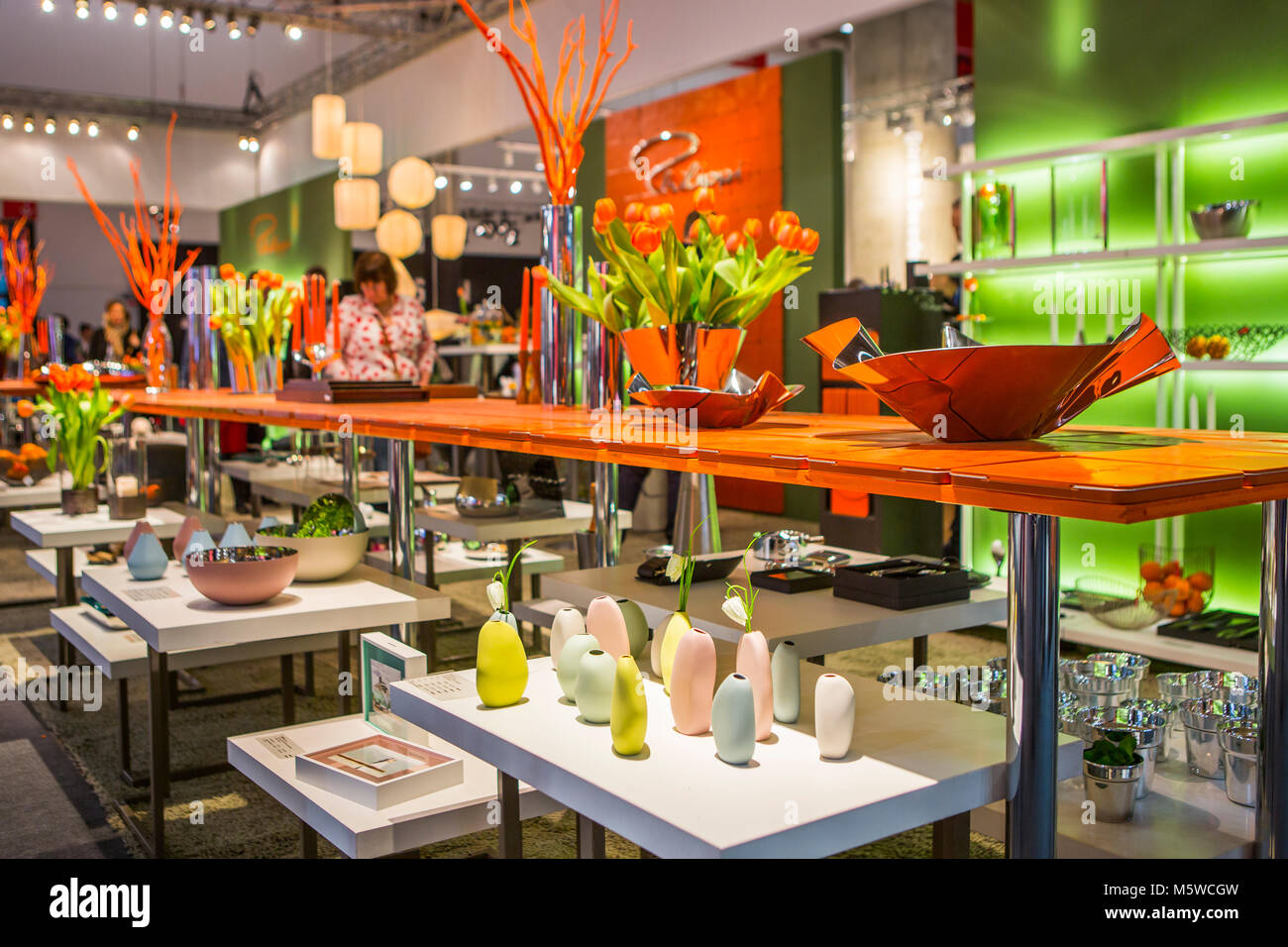 Frankfurt, Germany. 9th Feb, 2018. Ambiente 2018 (9th to 13th Feb, 2018), world's most important consumer goods - Stock Image