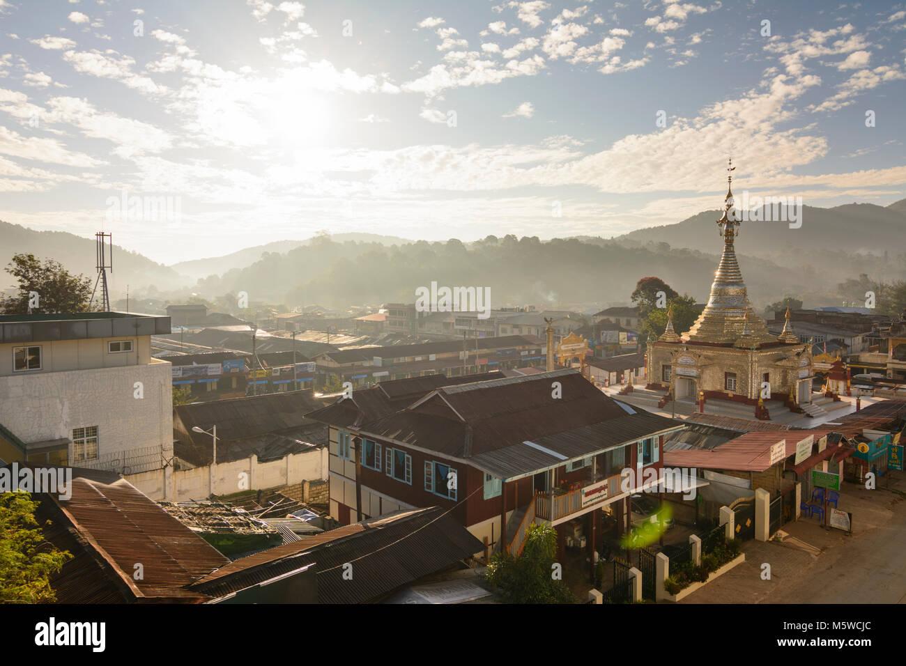 Kalaw: town center, Aung Chan Thar Zedi pagoda, , Shan State, Myanmar (Burma) Stock Photo