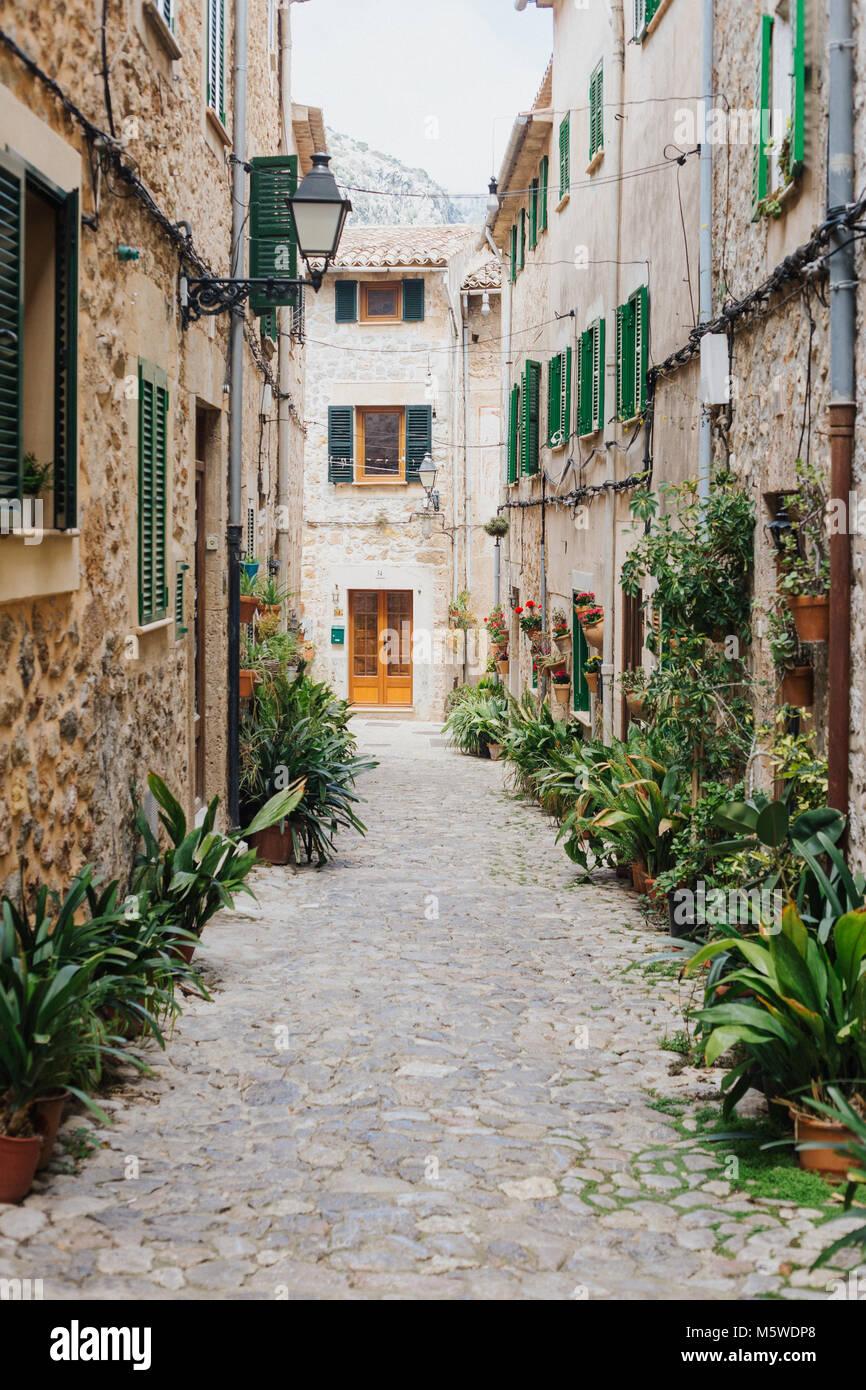 Stadt am Mittelmeer - Stock Image