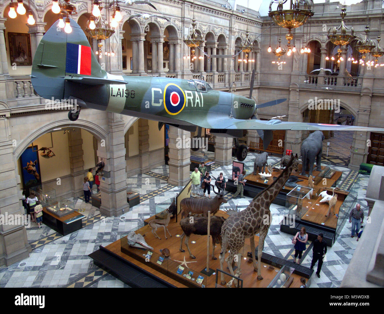 Exhibition Displays Glasgow : Kelvingrove glasgow art spitfire stock photos
