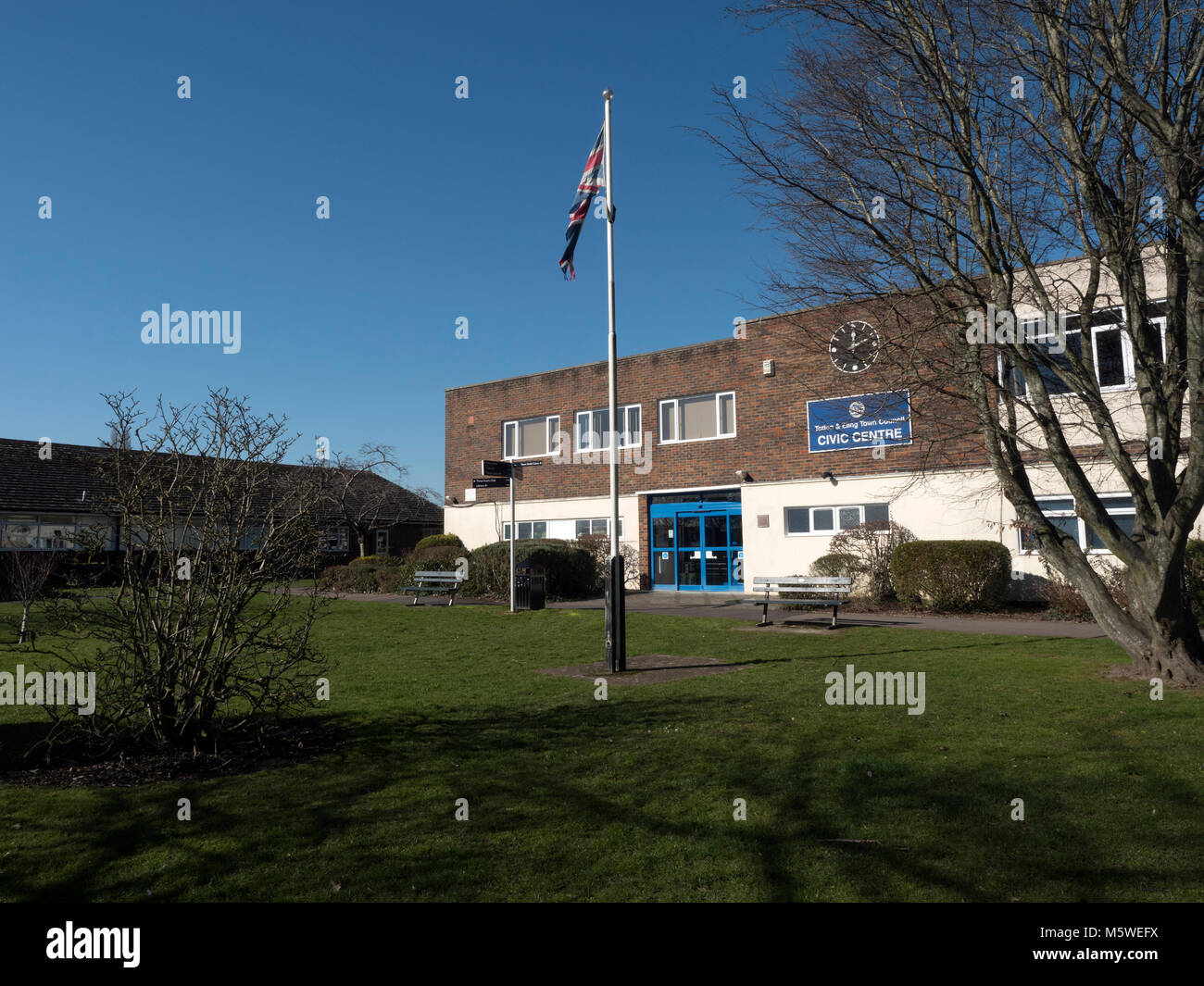 Civic Centre and Town Council Offices, Totton, New Forest, Hampshire, England, UK - Stock Image