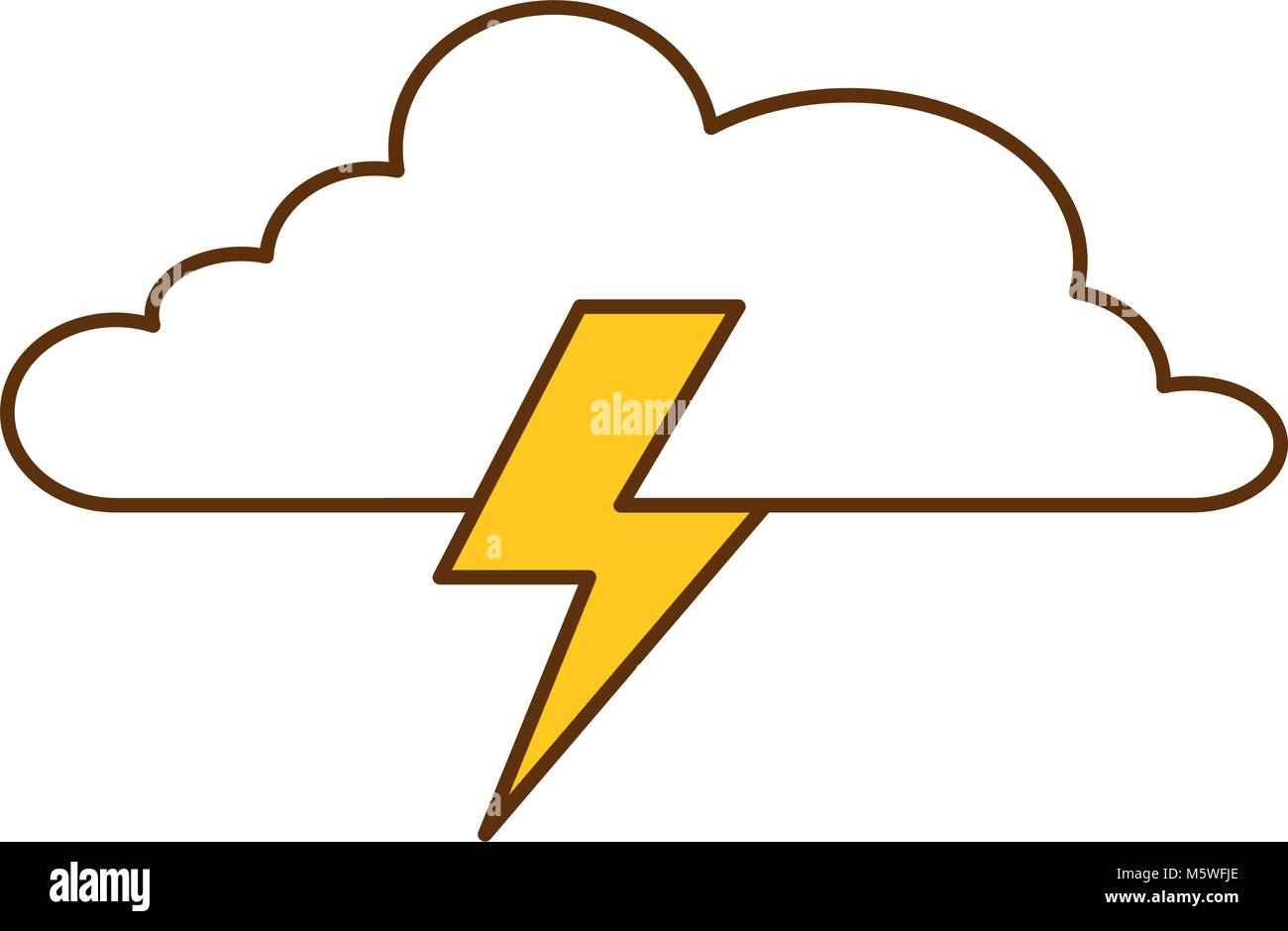 cloud weather with thunder vector illustration design stock vector image art alamy alamy