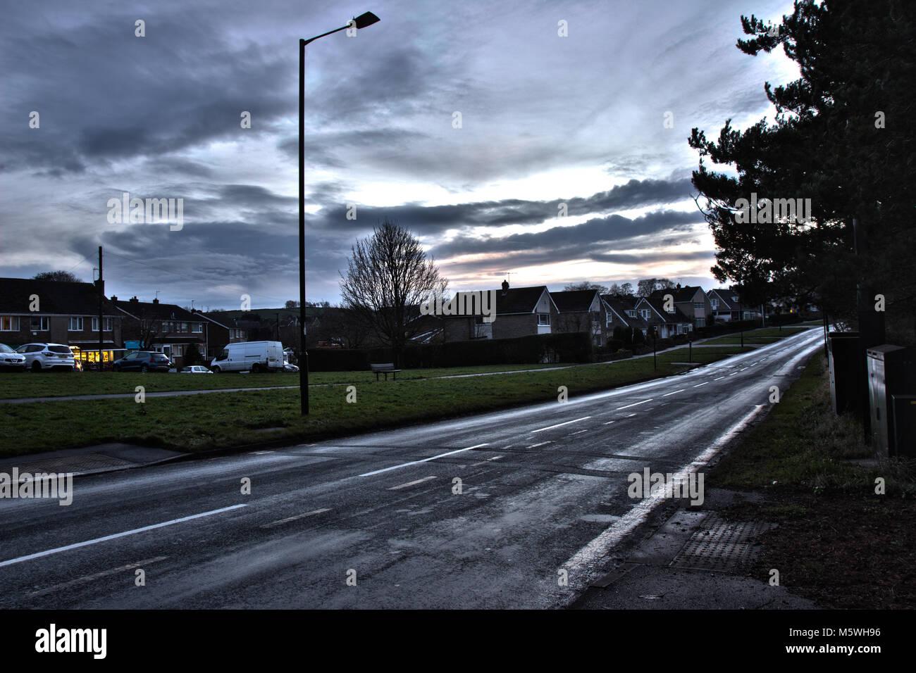 HDR Residential Street - Stock Image