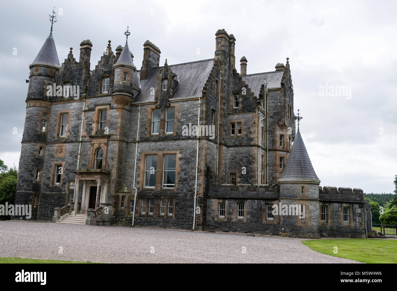 Blarney House close to  Blarney Castle near Cork in Southern Ireland - Stock Image