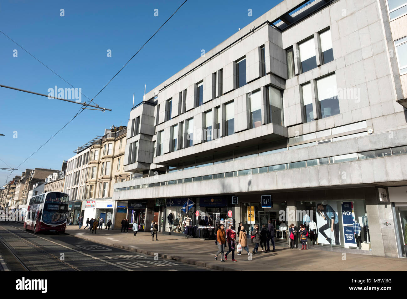 Exterior view of The New Club premises ( private members' Club) on Princes Street in New Town of Edinburgh, - Stock Image