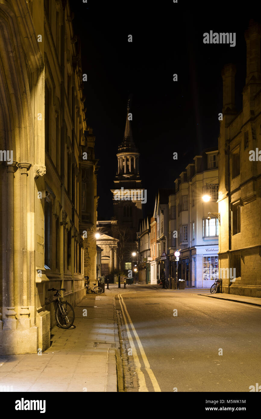 Turl street at night. Oxford, Oxfordshire, England - Stock Image