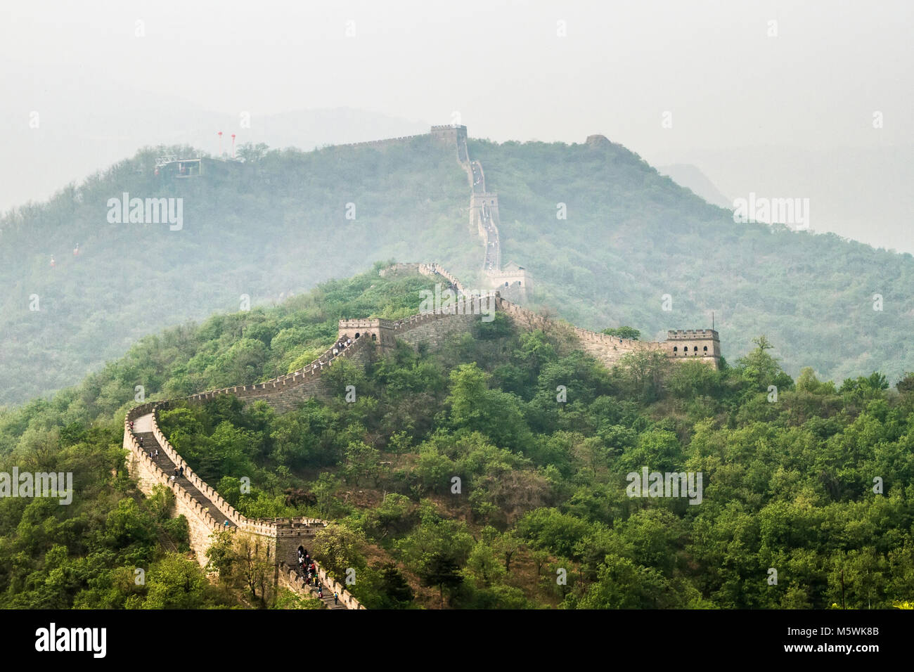 China, Great Wall of China, Mutianyu - Stock Image