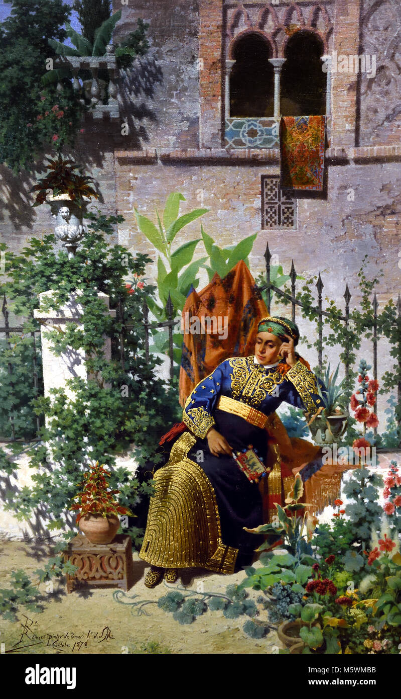A remembrance of Africa. Sephardi bride Rafael Romero Barros1878/1878 Rafael Romero Barros 1832 - 1895 19 thcentury, - Stock Image